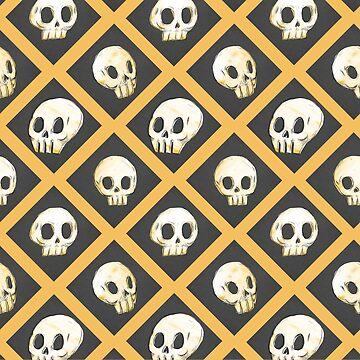 Tiling Skulls 1/4 - Yellow  by Foss