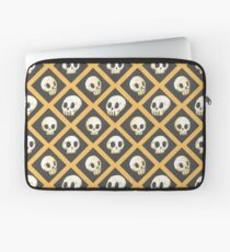 Tiling Skulls 1/4 - Yellow  Laptop Sleeve