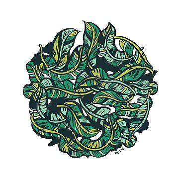 Banana leaves by nokhookdesign