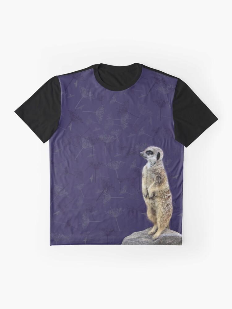 Alternate view of Meerkat  Graphic T-Shirt