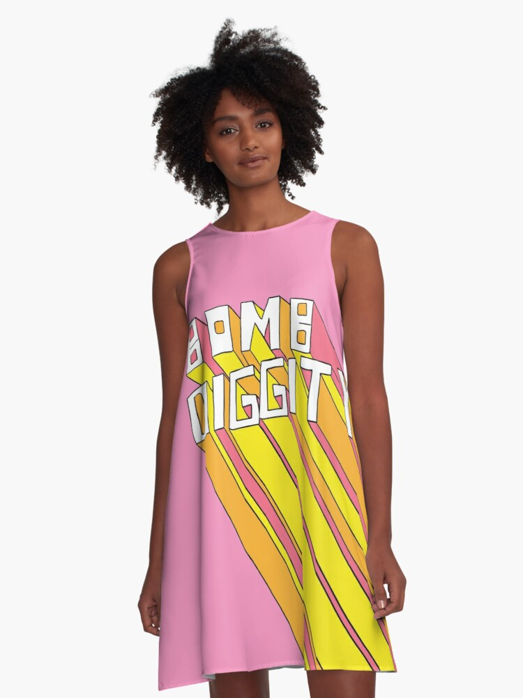 28a9e4b16089 Retro Bomb Digity Words In Pink, Yellow, and Orange