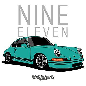 Nine Eleven (mint blue) by MotorPrints