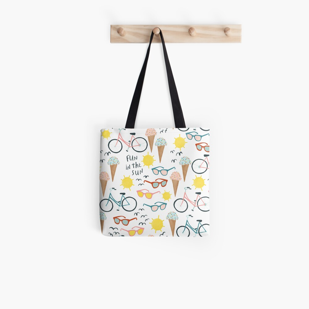 Fun in the sun summertime pastel pattern Tote Bag