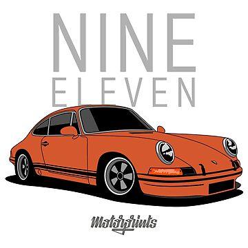 Nine Eleven (orange) by MotorPrints