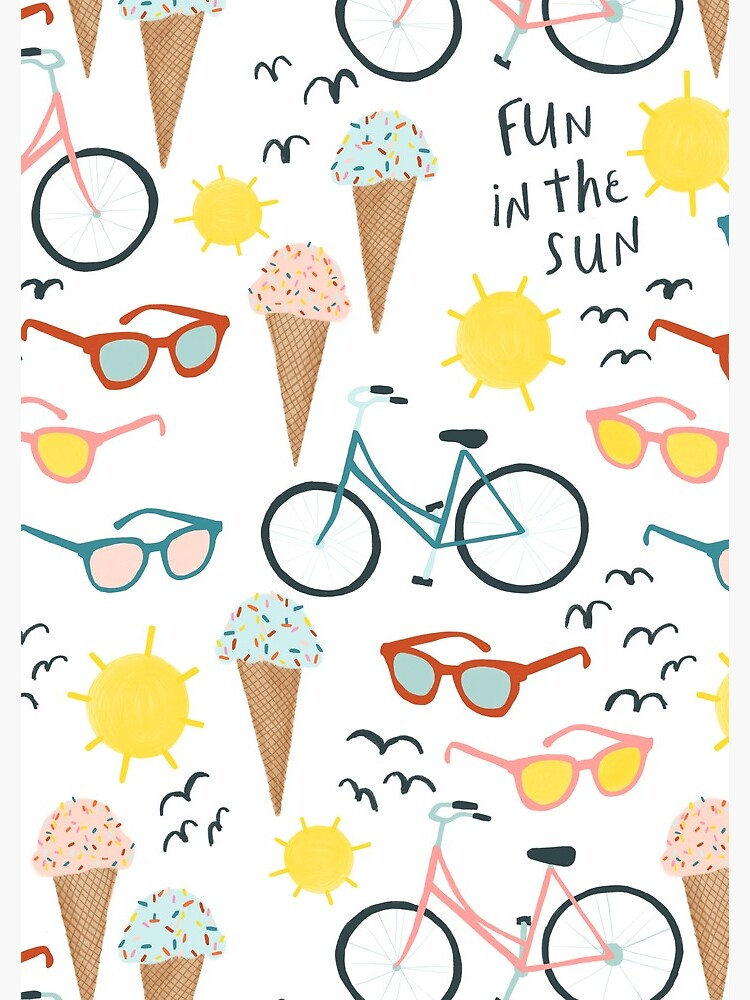 Fun in the sun summertime pastel pattern by shoshannahscrib