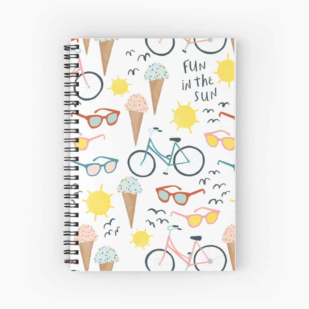 Fun in the sun summertime pastel pattern Spiral Notebook