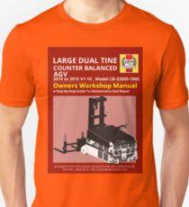 Workshop Manual - Large Dual Tine CB AGV - BW T-Shirt