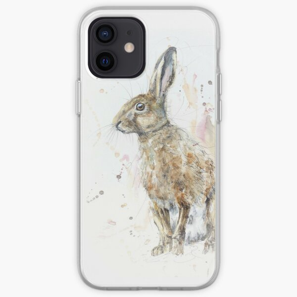 The Original Watercolour Hare  iPhone Soft Case