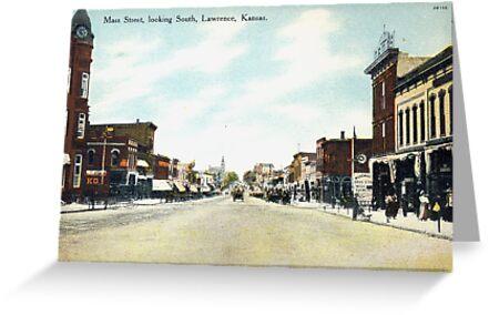 1908 lawrence ks mass street looking south delightful image from 1908 lawrence ks mass street looking south delightful image from antique postcard by m4hsunfo