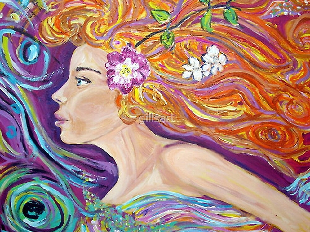 Goddess of Love lVenus /Aphrodite,acrylic artwork  by gillsart