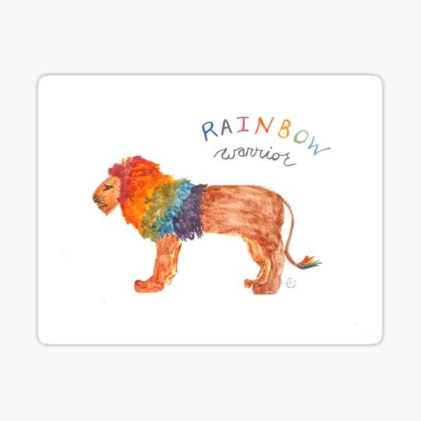 Rainbow Warrior: Lion Sticker