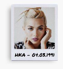 Hayley Kiyoko Polaroid Edit Canvas Print