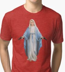 Mary Mother of God Tri-blend T-Shirt