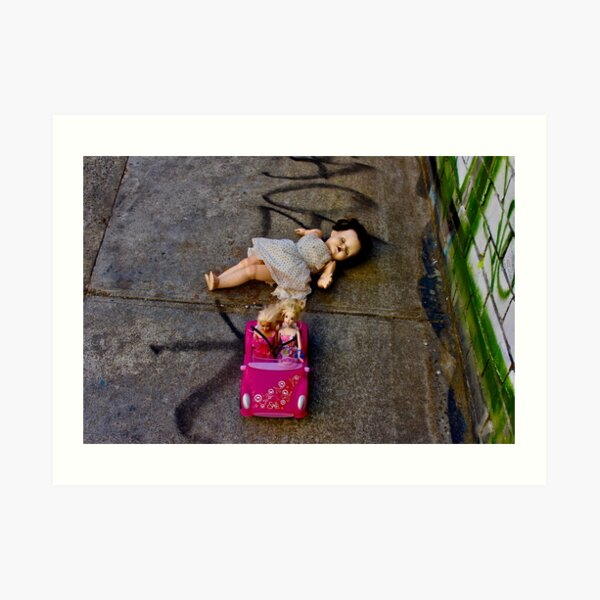 Convertible Barbies with Shadow Doll  Art Print