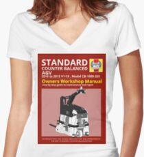 Workshop Manual - Standard CB AGV - BW Women's Fitted V-Neck T-Shirt