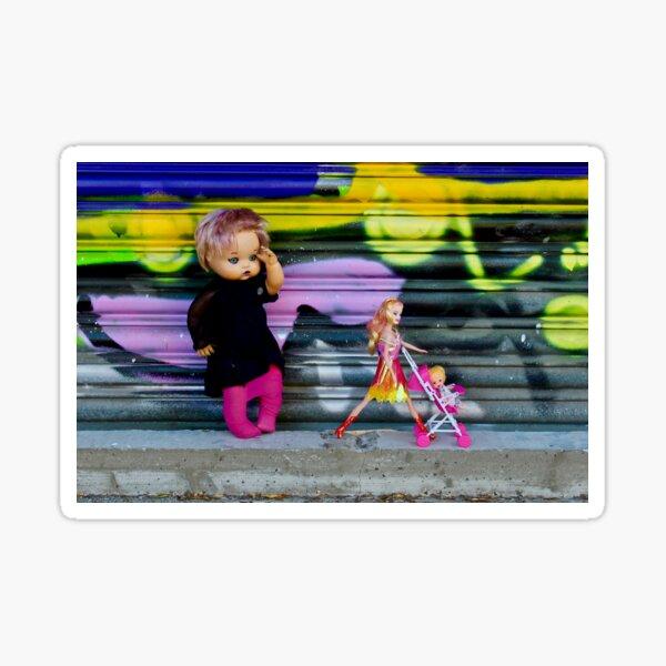 Pram Barbie with Shadow Doll  Sticker