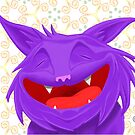 Anselmo the fat violet cat by Gioppo