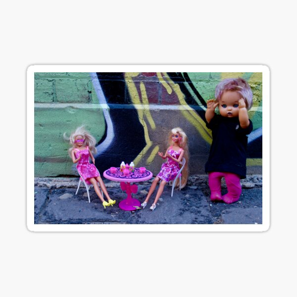 Brunching Barbies with Shadow Doll Sticker