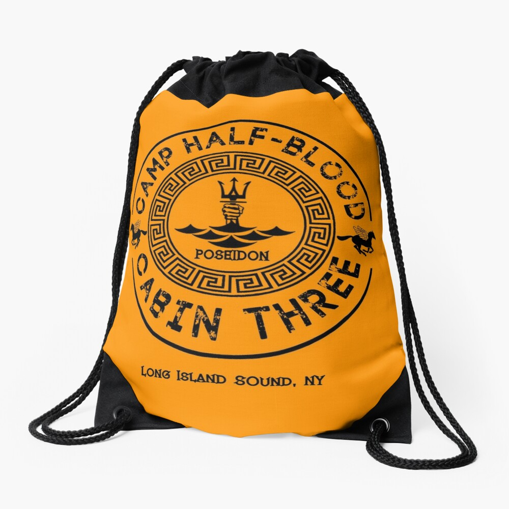 Percy Jackson - Camp Half-Blood - Cabin Three - Poseidon Drawstring Bag