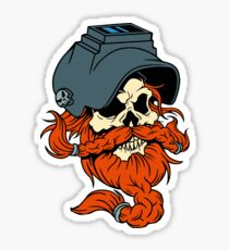 Welder Skull Sticker