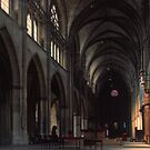 Looking to old apse Saint-Cyr-et-Sainte-Julitte-de-Nevers C13 Cathedral Nevers France 19840828 0012  by Fred Mitchell