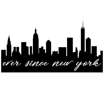 Seit New York City Skyline Silhouette von livstuff