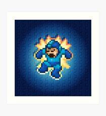 Megaman Damage Art Print