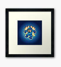 Megaman Damage Framed Print
