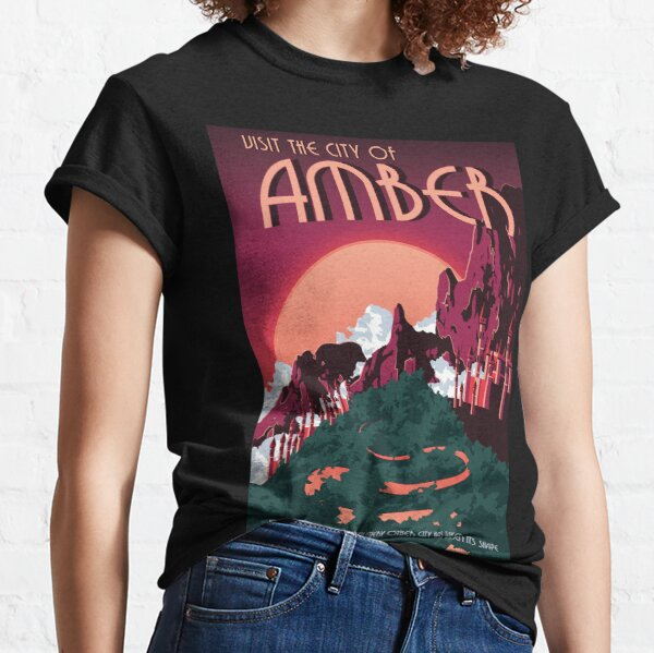 Chronicles of Amber Vintage Travel Poster Classic T-Shirt