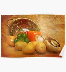 Cascading Vegetables Poster