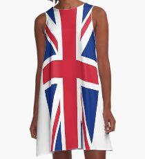 UK Great Britain Royal Union Jack Flag A-Line Dress
