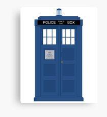 Dr Who T.A.R.D.I.S  Canvas Print
