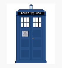 Dr Who T.A.R.D.I.S  Photographic Print
