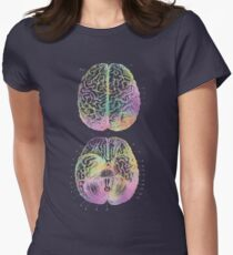 Ancient Brain Drawing - Type D Women's Fitted T-Shirt