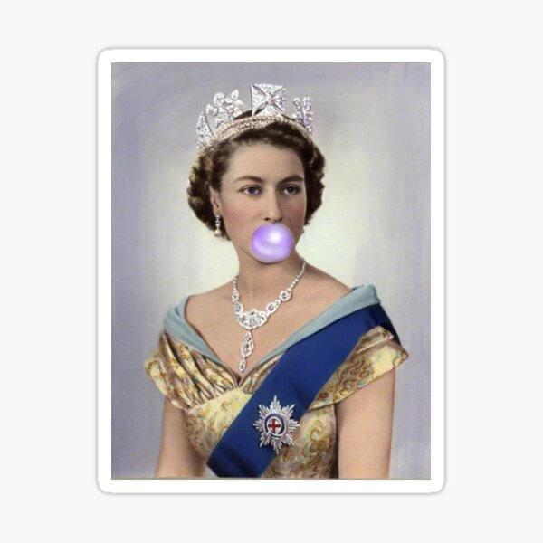 Gomme de la Reine Elizabeth II Sticker