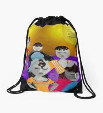 Eggs-istential Drawstring Bag