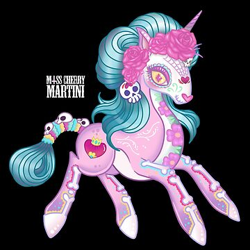 Kawaii to Die, Candy Skull Unicorn by CherryMartini