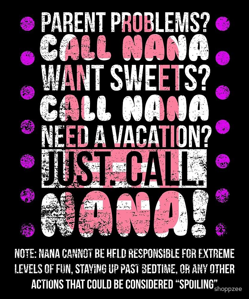 Grandma Gifts Call Nana Grandparents Gift by shoppzee