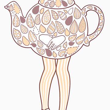 Teapot Girl - purple by susanlee