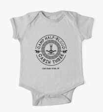 Percy Jackson - Camp Half-Blood - Cabin Three - Poseidon Short Sleeve Baby One-Piece