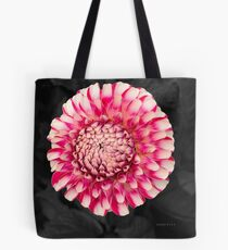 Pink and white dahlia designs Tote Bag