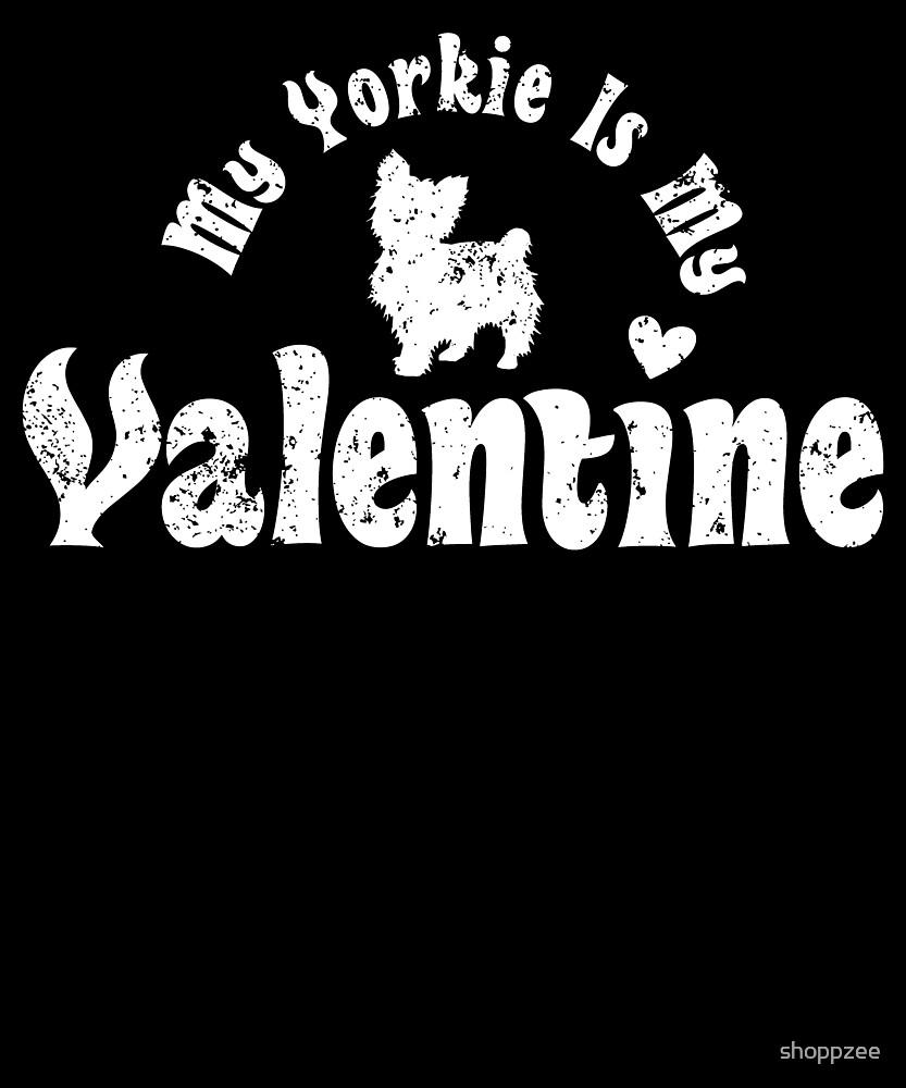 My Anti Valentine Yorkie Yorkshire Terrier by shoppzee