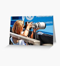 Heavy lifting photography Greeting Card