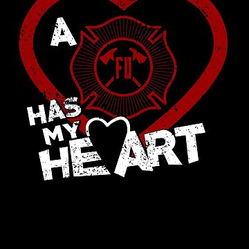 Firefighter Has My Heart Happy Valentines Day Shirt by shoppzee