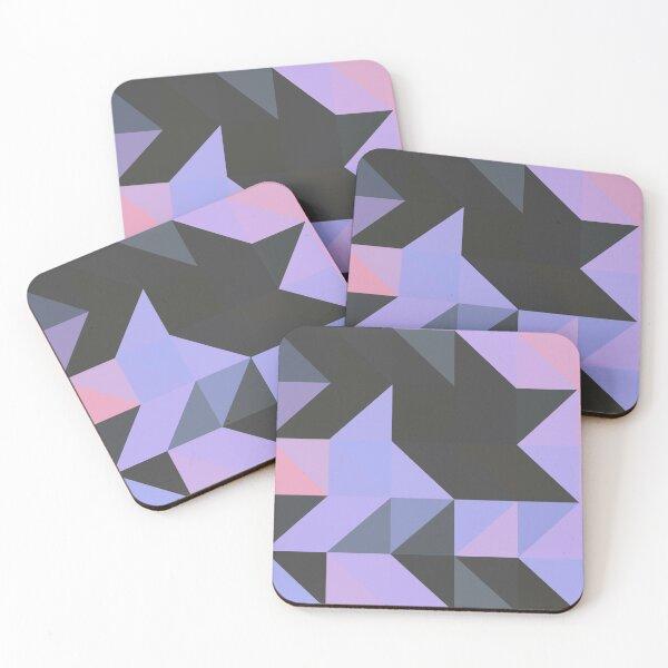 Pink and Purple Geo Coasters (Set of 4)