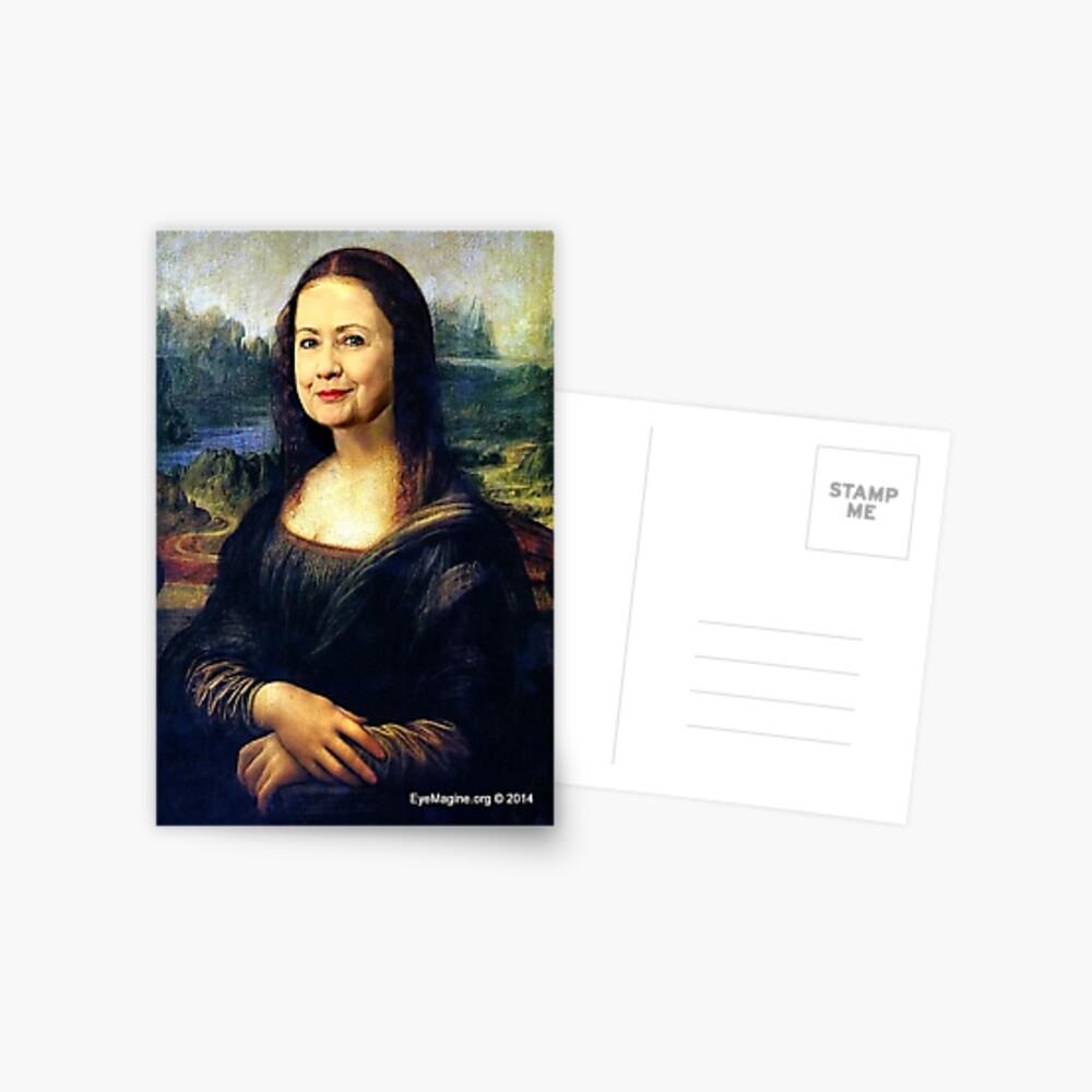 Hillary Mona Lisa Postcard