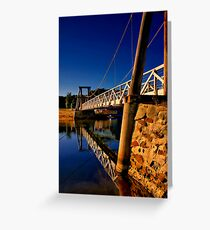 """""""Reflections of The Crossing"""" Greeting Card"""