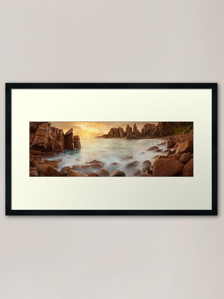 Alternate view of The Pinnacles, Phillip Island, Victoria, Australia Framed Art Print