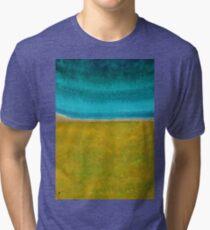 Chamisa in Bloom original painting Tri-blend T-Shirt