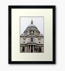 St Pauls Cathedral Closeup Framed Print